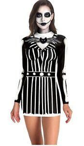 eBoutik - Adult Halloween Bodycon Dress - Spooky Costume Design's for Parties Va