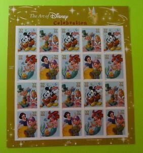 Stamps US * Sc 3912-15 * Art of Disney Celebration * 37c * 2005 * MNH * Sht 20