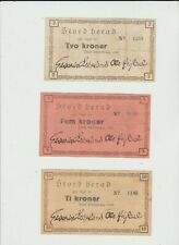 More details for norway local issues 10,5,2  kroner  1940  stordherad