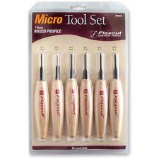 Flexcut 6 Piece 1.5 mm Mixed Profile Micro Tool Set 102097