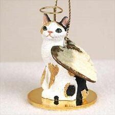 Japanese Bobtail Tortoise & White Cat Angel Ornament