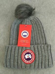 New Canada Goose Beanie Hat Unisex Cap Gray