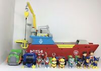 Paw Patrol Sea Patroller Boat Ship and Figures Bundle Toy Lights & Sounds Works