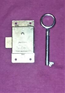 New Antique Lock & Key Set SEA BIRD for Cabinets Desks ect.