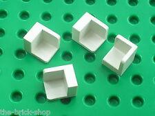 LEGO 4 white Panel 1 x 1 x 1 Corner ref 6231 / Set 10189 10182 7679 7161 8779 ..