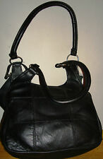 NWT Tri-coastal Design Black Soft Leather Shoulder Bag