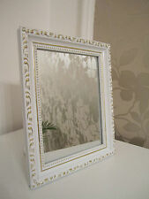 Hermoso Barroco Mini Espejo de Pared Shabby Aspecto Antiguo 20x25 cm en blanco /