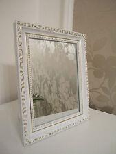 Wunderschöner Barock Mini Wandspiegel Shabby Antik Look  20x25 cm   Weiß / Gold