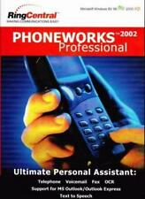 PhoneWorks 2002 Pro PC CD OCR Text to Speech send fax computer faxing tool faxes