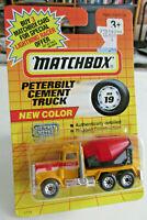 MATCHBOX #19 Peterbilt Cement Truck New Color Lesney On Blister Card unopened