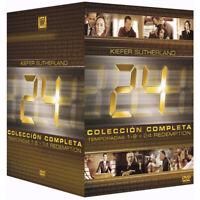 Serie 24 Completa Original en Español Temporadas 1 - 9 + 24 Redemption en DVD