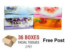 36 x Facial Tissues Bulk Tissue Boxes Box 2 Ply Soft White 100% Brand New