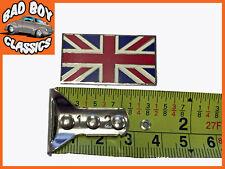 Auto Adhesivo pequeñas Union Jack Esmalte Insignia Emblema 38mm X 28 Mm Para Autos Clásicos