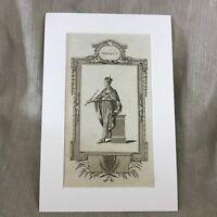 1790 Antico Incisione Stampa King Henry V Royal Ritratto 18th Secolo Originale