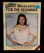 Vintage 1989 Plaid Enterprises Fabric Painting Craft Booklet # 8401 By Aubuchon
