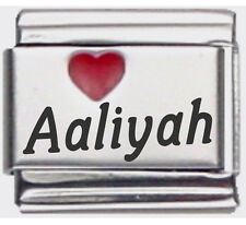 Clearly Charming Aaliyah Laser Name Italian Charm Link