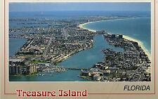 postcard   USA Florida  Treasure Island erial view   unposted