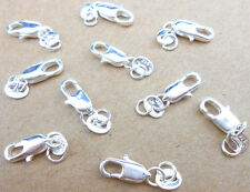 10PCS nice Jewelry Connector 925 Sterling Silver Lobster Clasps 925 Stamped Tag