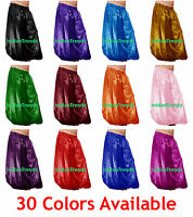 Satin Harem Yoga Pants Belly Dance Pantaloons Trousers Aladdin Baggy Halloween