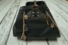 USED VERSACE H&M BAG TASCHE ROUCH STUDDED HANDBAG PURSE CLUTCH 100%AUTHENTIC