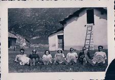 FOTO ALPINISTI AL RIFUGIO VITTORIO SELLA 1939 ALPE LAUSON Valle d'Aosta 7-77