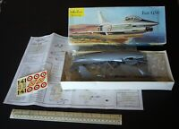 1960s Heller France Fiat G.91 Italian Jet Fighter 1/50 Scale. Complete & Boxed.