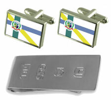 Embu-Guacu City Sao Paulo State Flag Cufflinks & James Bond Money Clip