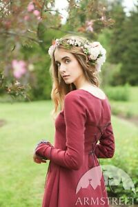 "Medieval Tunic ""Secret Garden""; Burgundy; SIZE 0"