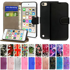 Luxury Leather Wallet Flip Stand Case Cover For Apple iPod Touch 7th 6th 5th Gen