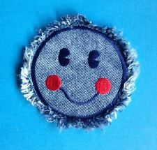Rare Vintage 70's Biker Vest Hat Hippie Jean Jacket Patch Denim SMILEY FACE