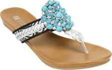 White Mountain Womens Sandals 'Enrich' Basic Textile Shoes  8.5 M