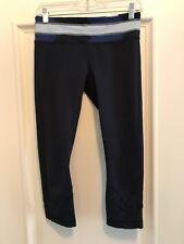 LULU LEMON Inspire Running Capri/Crop Pants Navy Blue 6