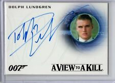 James Bond Autograph Card A271 Dolph Lundgren Venz On Card Auto Rittenhouse GPC