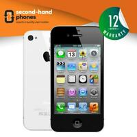 Apple iPhone 4S 8GB 16GB 32GB 64GB Unlocked / SIM FREE Smartphone Black/White