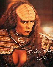 "OFFICIAL WEBSITE Barbara March ""Lursa"" STAR TREK TNG 8x10 AUTOGRAPHED"
