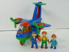 Caillou Rosie & Leo Figures with Airplane Propellers Rotate! Htf