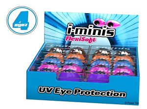 i-Minis 1x Pair Sunbed Tanning Goggles UV Eye Protection Choose From 6 Colours