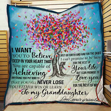 To My Granddaughter Quilt Blanket, Quilt Blanket Gift for Granddaughter