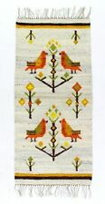A vintage Polish wall hanging / rug New old stock Bird design Circa 1970