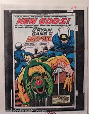NEW GODS OG PRODUCTION ART HAND COLORED SIGNED JACK KIRBY/ TOLLIN w/COA PG 29