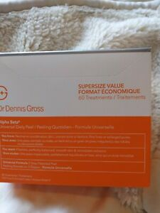 60 x Dr. Dennis Gross Alpha Beta Universal Daily Peel Pads Exp. 08/23 Boxed