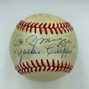 "Mickey Mantle ""Commerce Comet"" & Joe Dimaggio Yankee Clipper Signed Baseball JSA"