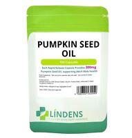 Lindens Pumpkin Seed Oil 300mg 100 capsules Men's Herb Tablets Rapid Release
