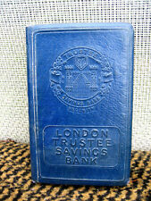 A blue moneybox bank London Trustee Savings Bank THRIFT L.T.S.B 7122 No Key