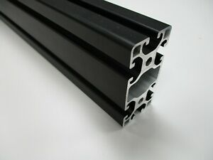 4080 Aluminium Extrusion/Profile 8mm T-Slot, Black Anodised, ITEM Compatible
