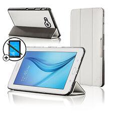 Leather White Folding Smart Case Samsung Galaxy Tab E Lite 7.0 Scrn Prot Stylus