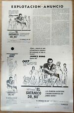007: DR. NO, Sean Connery, Ursula Andress, 1962, Pressbook 660