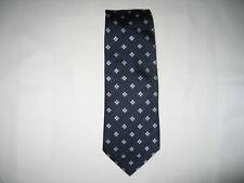 R0052 Enrico Mori Krawatte 100% Seide blau,weiß 152cm Sehr gut