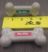 2 Robot Dog Toys Tiger Sega Poo-Chi Robo Dog Bone Teal & Pink Replacement Parts