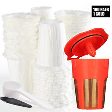 BRBHOM Disposable Paper Filters Reusable K-Carafe Coffee Filter for Keurig 2.0